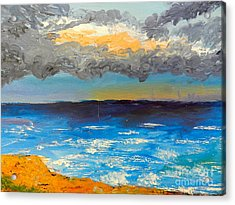 Wollongong Beach Acrylic Print by Pamela  Meredith