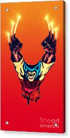 Wolverine  Acrylic Print by Justin Moore
