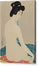 Woman After A Bath Taisho Era Acrylic Print by Goyo Hashiguchi