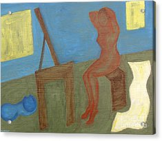 Woman After Bathing Acrylic Print by Patrick J Murphy