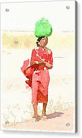 Woman Bag Acrylic Print