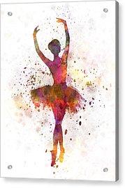 Woman Ballerina Ballet Dancer Dancing  Acrylic Print by Pablo Romero