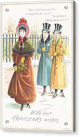 Woman Carrying Bunch Of Mistletoe Acrylic Print by English School