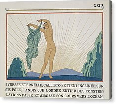 Woman Dancing Acrylic Print by Georges Barbier