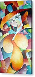 Acrylic Print featuring the painting Woman by Dorothy Maier