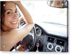 Woman Driving Acrylic Print