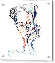 Woman Expression Acrylic Print by Marian Voicu