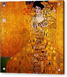 Acrylic Print featuring the painting Woman by Gustav Klimt