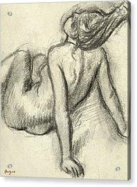 Woman Having Her Hair Styled Acrylic Print