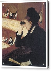 Woman In Black At The Opera Acrylic Print by Mary Cassatt