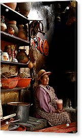 Woman In Chicheria Acrylic Print