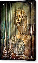 Woman In Glass Acrylic Print