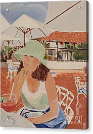 Woman In Mazatlan Acrylic Print by Debra Chmelina