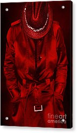 Woman In Red Acrylic Print by Svetlana Sewell