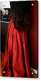 Woman In Silk - Standing Acrylic Print