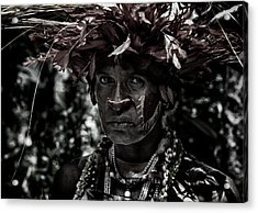 Woman In The Sing-sing Festival Of Mt Hagen - Papua New Guinea Acrylic Print