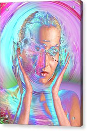 Woman Listening To Sound Acrylic Print