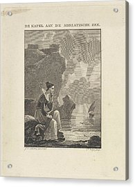 Woman Looking Out Over The Sea, Philippus Vellum Acrylic Print by Philippus Vellum