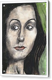 Woman Looking Suspicious Acrylic Print by Ben Killen Rosenberg