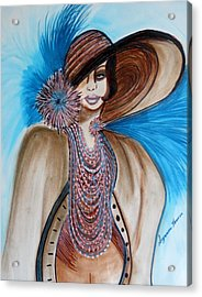 Woman Lost Acrylic Print by Suzanne Thomas