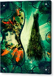 Green Mystery Montage Acrylic Print
