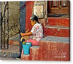 Woman Of Colonial Mexico Acrylic Print by Linda  Parker