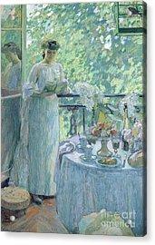 Woman On A Balcony  Acrylic Print by Henri Ottmann