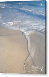 Acrylic Print featuring the photograph Woman On Beach by Chris Scroggins
