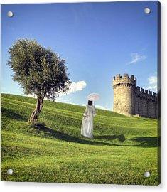Woman On Meadow Acrylic Print by Joana Kruse