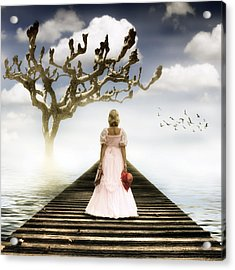 Woman On Pier Acrylic Print by Joana Kruse