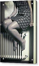 Woman On Window Sill Acrylic Print by Joana Kruse