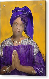 Woman Praying Acrylic Print