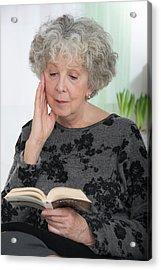 Woman Reading A Book Acrylic Print