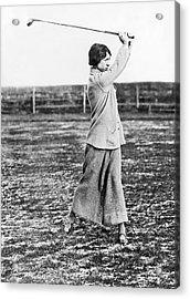 Woman Showing Golf Form Acrylic Print