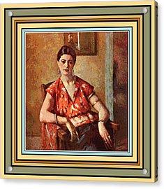 Woman Sitting In Chair Acrylic Print by Gary Grayson