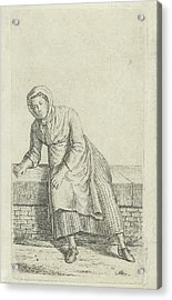 Woman Sitting On A Wall, Anthonie Willem Hendrik Nolthenius Acrylic Print by Quint Lox