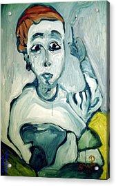 Woman Smoking Acrylic Print