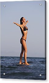 Woman Standing On The Water Acrylic Print