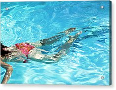 Woman Swimming Acrylic Print by Gustoimages/science Photo Library