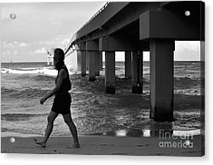 Woman Walking Acrylic Print by Andres LaBrada