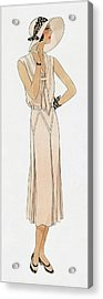 Woman Wearing A Dress By Martial Et Armand Acrylic Print
