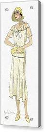 Woman Wearing A Dress By Redfern Acrylic Print