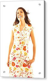 Woman Wearing Sundress Acrylic Print by GSPictures
