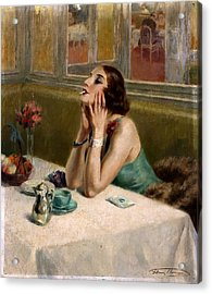 Woman With A Cigarette Acrylic Print