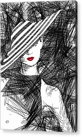 Woman With A Hat Acrylic Print