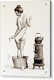 Woman With A Towel 1890s Acrylic Print