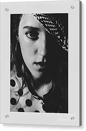 Acrylic Print featuring the photograph Woman With Hat by Jeepee Aero