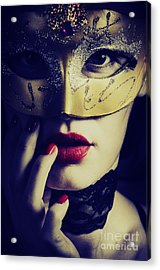 Woman With Mask Acrylic Print