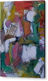 Woman With Two Figures Acrylic Print by Fred Smilde