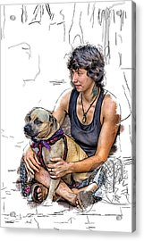 Womans Best Friend Acrylic Print by John Haldane